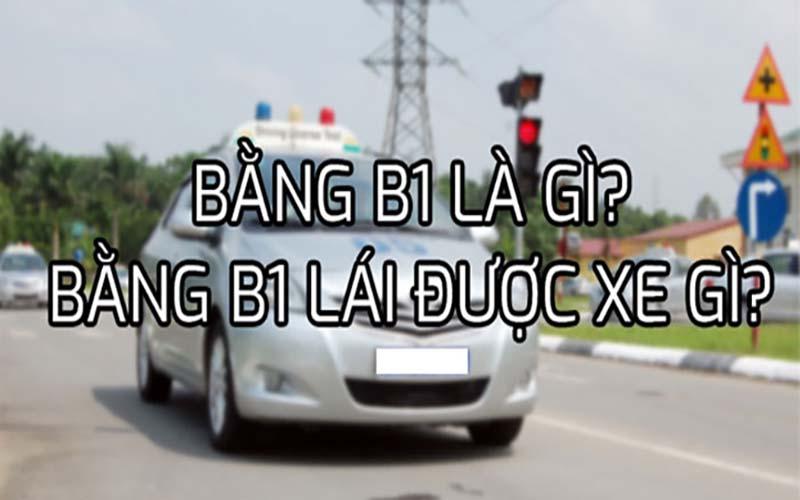 Bằng lái xe B1 là gì?