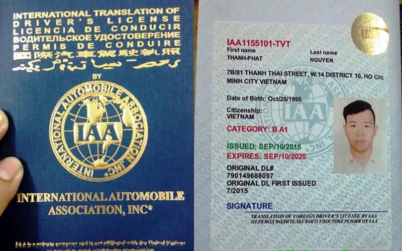 Bằng lái xe IAA có thời hạn bao lâu?