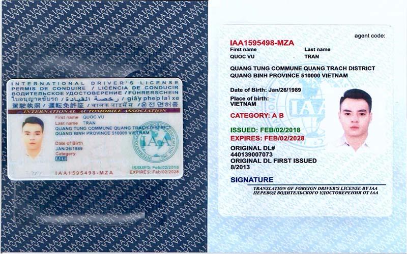 Sử dụng bằng lái xe quốc tế cần lưu ý gì?