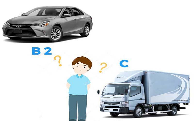 Đăng ký học và thi bằng lái xe B2 và C có giống nhau hay không?