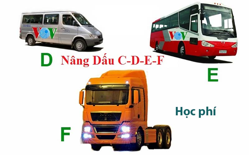 Học phí khóa học nâng hạng bằng lái xe từ C lên D, E, FC