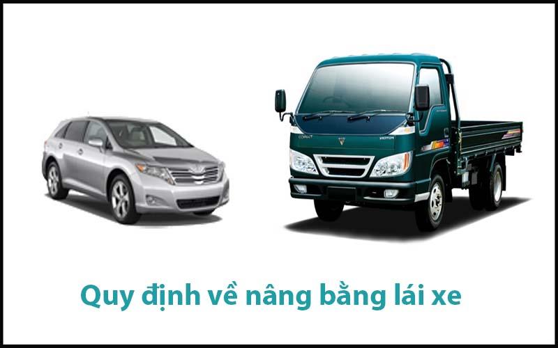 Quy định về nâng bằng lái xe