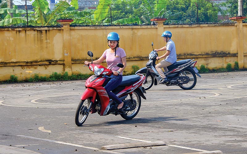 Thời gian học bằng lái xe máy A1