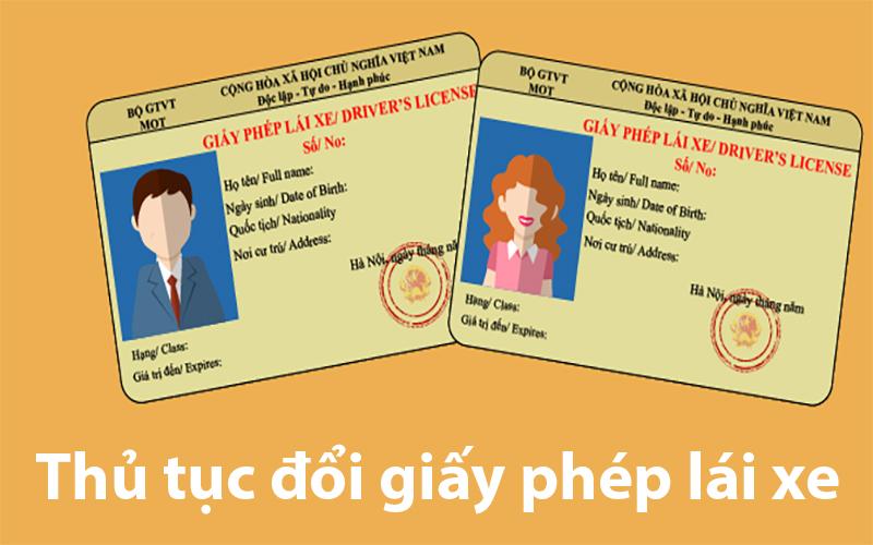 Thủ tục đổi giấy phép lái xe