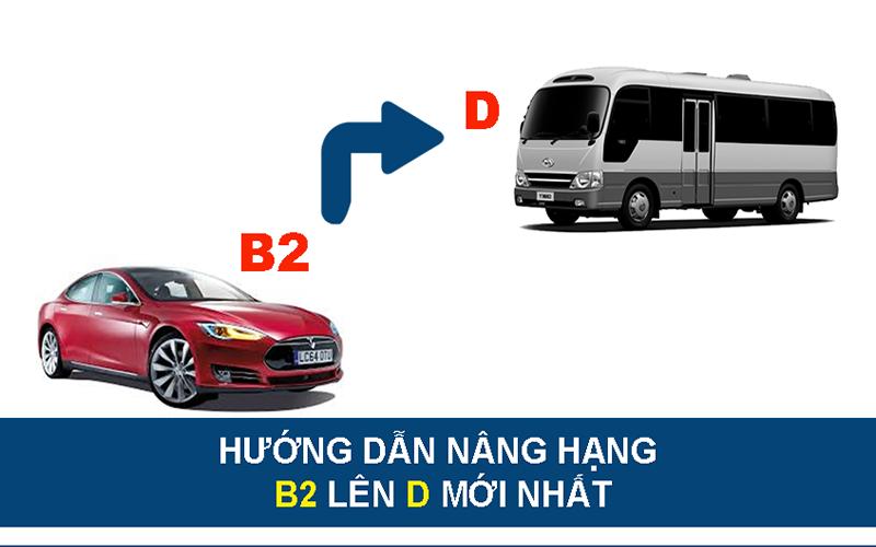 Thủ tục nâng dấu bằng lái xe từ B2 lên D