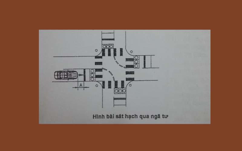 Qua ngã tư có đèn tín hiệu điều khiển giao thông